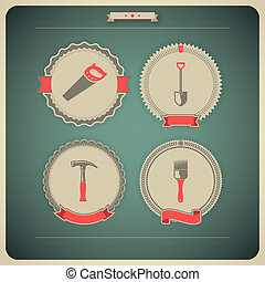 Work tools - Heavy industry theme - construction site tools...