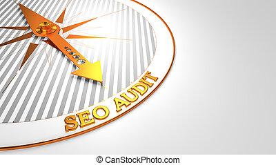 Seo Audit on White Golden Compass. - Seo Audit - Golden...
