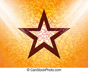 star flat design with abstract background
