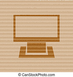 Computer icon Flat with abstract background