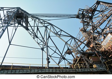 Ferropolis - Detail of an old excavator in the disused...