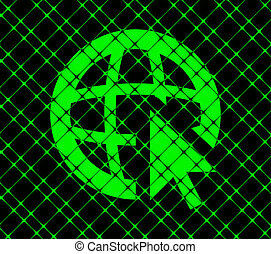 globe icon flat design with abstract background