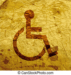 disabled. Flat modern web button and space for your text.