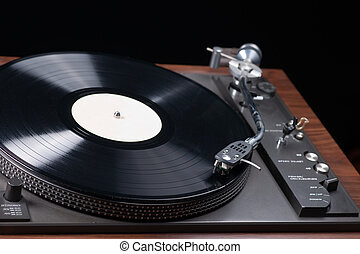 Record player - Close up of a record being played
