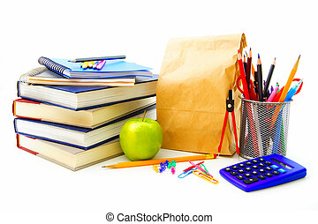 School supplies - Group of various school supplies and items...