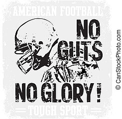 Football Guts - american football vector illustration for...