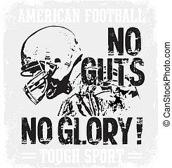 Football Guts - american football vector illustration for...