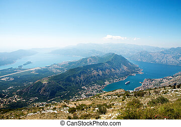 Kotor, Montenegro - Kotor bay and fjord landscape with...