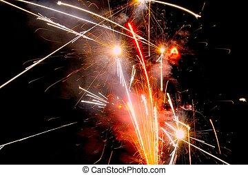 Fireworks that Resemble Star Wars - Brilliant fireworks in...