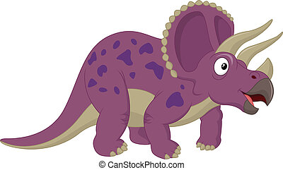 Triceratops cartoon - Vector illustration of Triceratops...