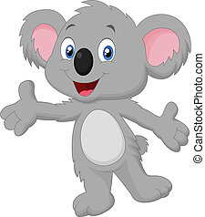 Cute koala cartoon posing - Vector illustration of Cute...