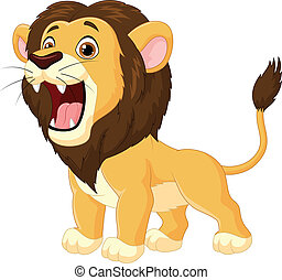 Cartoon lion roaring - Vector illustration of Cartoon lion...