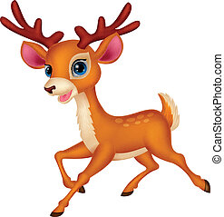 Cute deer cartoon - Vector illustration of Cute deer cartoon...