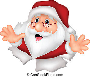Santa Clause cartoon - Vector illustration of Santa Clause...
