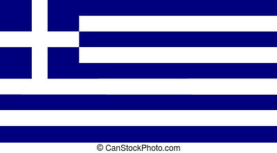 flag of Greece - color isolated vector illustration flag of...