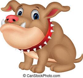 bulldogge, karikatur
