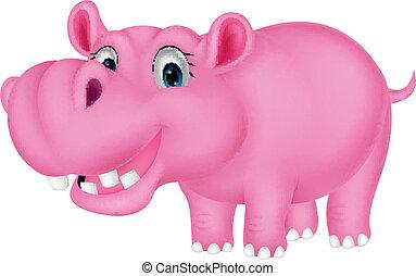 Cute hippo cartoon