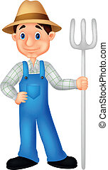 Farmer cartoon  - Vector illustration of Farmer cartoon