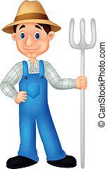 Farmer cartoon  - Vector illustration of Farmer cartoon