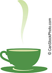 Cup with tea - Software Used: Adobe Illustrator CS2 Vector...