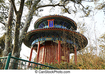 The Zhoushang Pavilion of the Jingshan Park, December 22,...