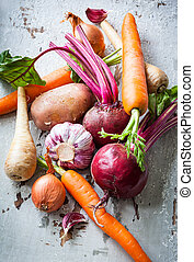 Root vegetables - Assorted types of root vegetables