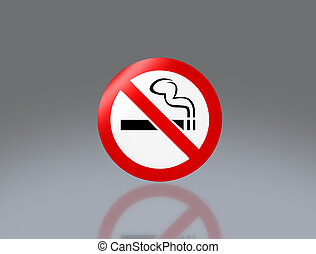 No smoking signage - the notice of no smoking sign for...