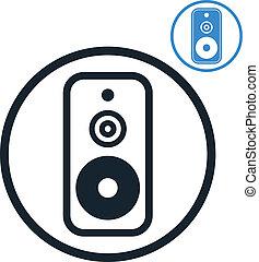 Audio speaker icon isolated.