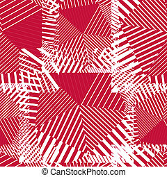 Abstract red lines seamless pattern Vector psychedelic...