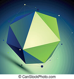 Colorful triangular abstract 3D illustration, vector digital...