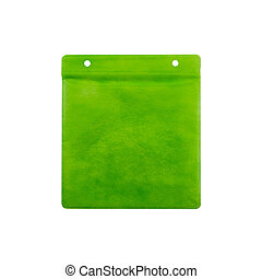 Green CD paper case. - Green CD paper case on white...
