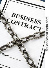 ビジネス, 契約, 鎖