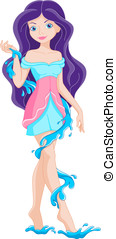 Water fairy - Fairy water, one of the four elements of the...