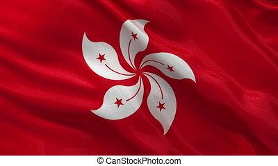 Flag of Hong Kong loop
