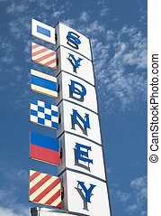 Sydney - The sign of Sydney town, the port of call in Nova...