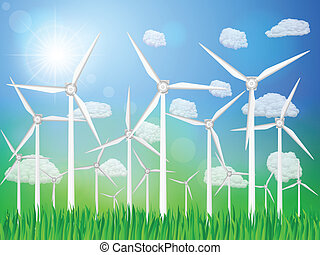 wind generators landscape