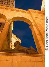 Historic Split - Split Cathedral and Egyptian Sphinx,...