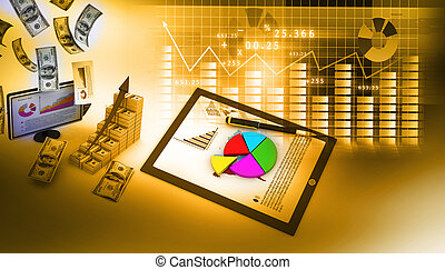 分析, チャート, ビジネス