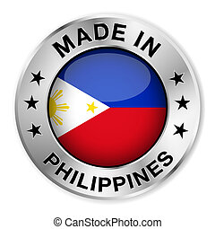 Made In Philippines - Made in Philippines silver badge and...