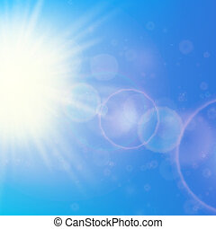 Sun with lens flare template. EPS10