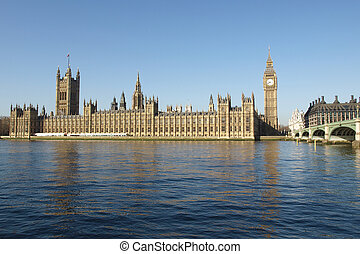Houses of Parliament, London - Houses of Parliament with Big...