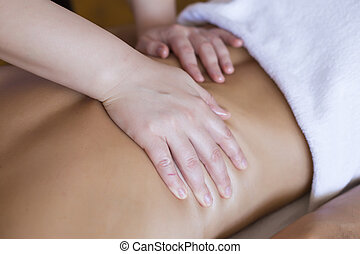 Young man having a massage