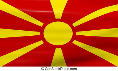 Waving Macedonia Flag, ready for seamless loop