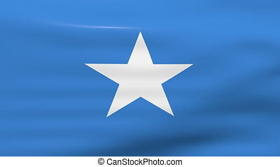 Waving Somalia Flag, ready for seamless loop