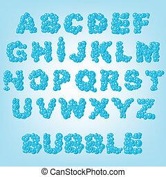 bubble abstract alphabet