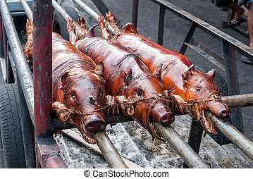 Roasted suckling pig - Philippine specialty - 3 Roasted...