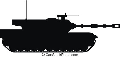 Modern heavy tank on white background Vector illustration