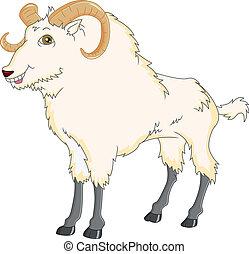 goat cartoon - illustration of goat cartoon