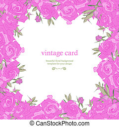 Save the Date Floral Card. - Save the date floral card....