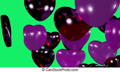Balloons in the shape of heart